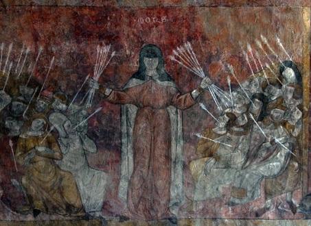 Byzantine fresco of the Black Death, 1347