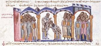 Patriarch Euthymios I installed, Madrid Skylitzes