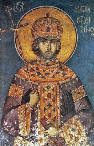 St. Constantine the Great in Byzantine Loros