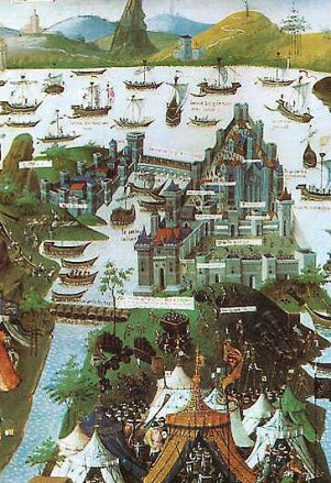 Latin depiction of the 1453 Siege of Constantinople