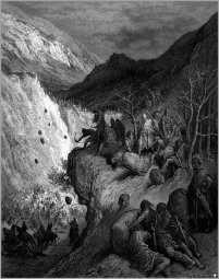 Manuel I's army ambushed by the Turks, 1176