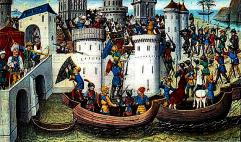 Attack of the 4th Crusade on Constantinople