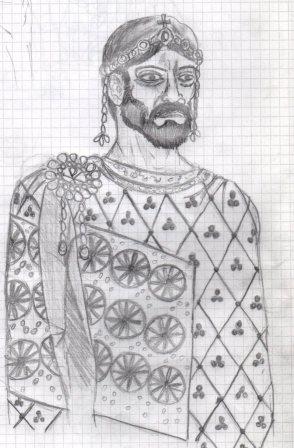 Sketch of Emperor Maurice