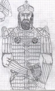 Drawing of Alexios V Doukas