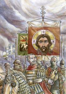 Bardas Phokas and his army