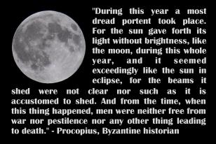 Summary of 536 dust-veil according to Procopius
