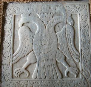 Eagle of Constantine XI in Mystras