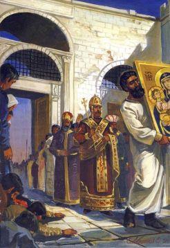 Michael VIII enters Constantinople, August 1261