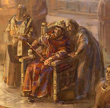 Court of Emperor Zeno in Constantinople