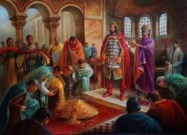 Justinian II makes Bulgar Khan Tervel a Caesar, 705