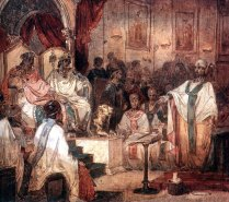Emperor Marcian and Empress Pulcheria at the Council of Chalcedon, 451