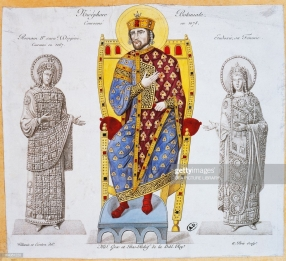 Nikephoros III Botaneiates with Romanos IV (left) and Eudokia Makrembolitissa (right)