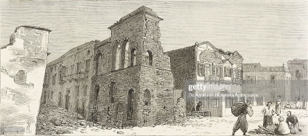 Earthquake damage in Constantinople