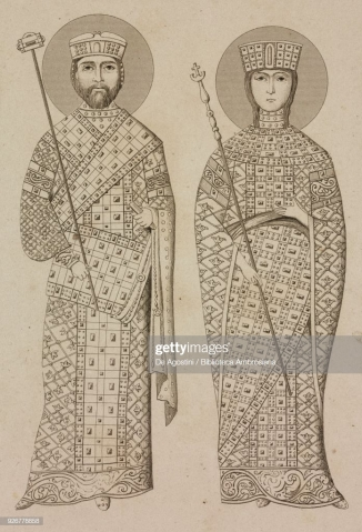 Nikephoros III (r. 1078-1081) and his wife Maria of Alania, former wife of Michael VII