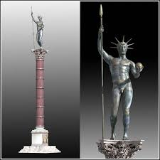 Porphyry column and statue of Constantine the Great as Apollo