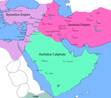 Expansion of the Arab Caliphate from Arabia