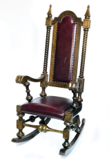 Rocking throne