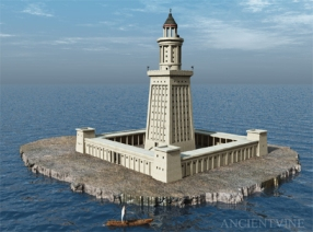 Lighthouse of Alexandria affected by the Tsunami