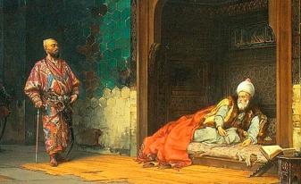 Bayezid I, prisoner at Timur's court in Samarkand