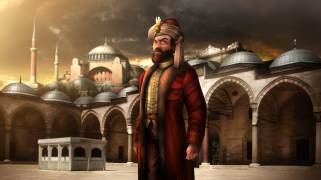 Mehmed II with Constantinople as the new Ottoman capital