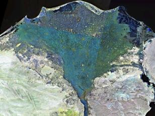 Topview of the Nile Delta, Egypt