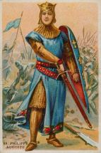 The crusader king Philippe II Auguste, King of France (1180-1223)