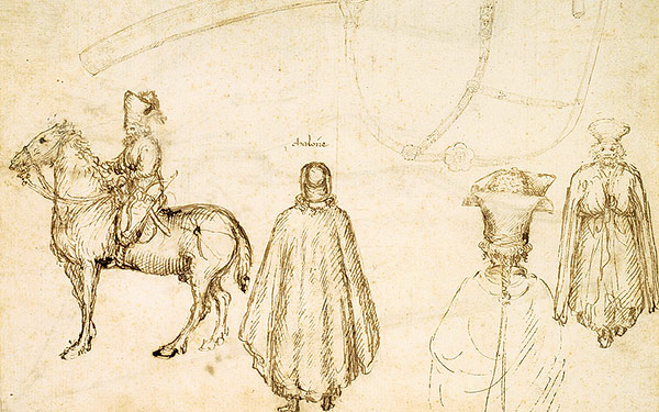 Renaissance drawing of the Byzantine delegation in Florence