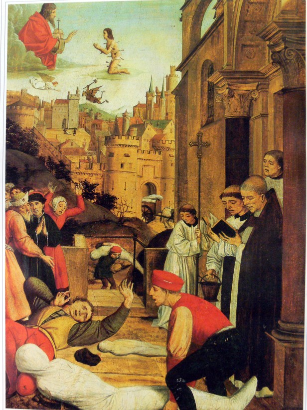 Medieval painting of Justinian's Plague, 542