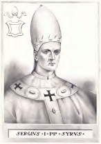 Pope Sergius I, pope during Justinian II's 1st reign