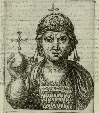 Justinian II in his 1st reign (685-695) with his nose still intact