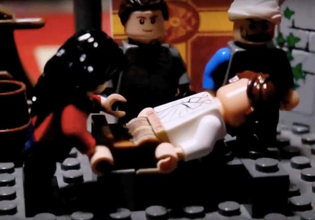 Death of Romanos II in Lego, 963