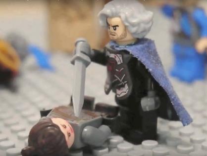 Defeat of Joseph Bringas by Nikephoros II in Lego