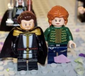 Lego Michael VIII and wife Theodora Vatatzaina in Lego
