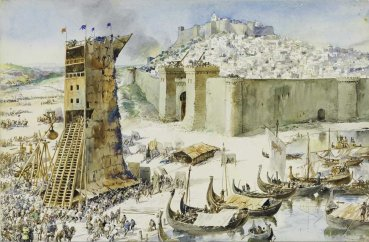Siege of Lisbon from the Moors, 2nd Crusade, 1147