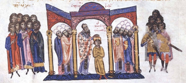 Coronation of the young Constantine VII in 913