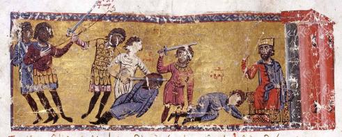 Murder of the Caesar Bardas by Basil the Macedonian, 866