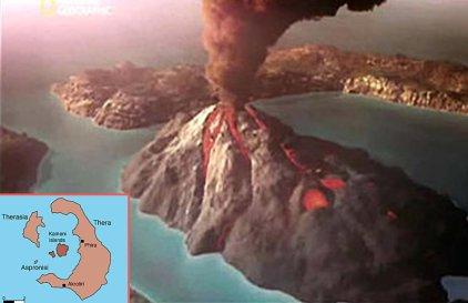 Volcanic eruption of Thera, 726 recreation