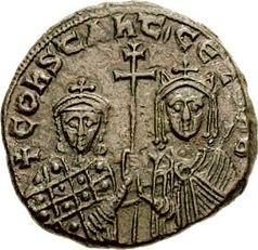 Coin of Constantine VII and his mother Zoe Karbonopsina