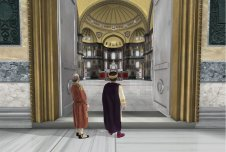Emperor Justinian I enters the Hagia Sophia for the 1st time, 537
