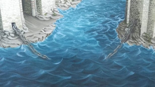 The chain of the harbor of Constantinople