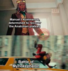 Meme of Manuel I's defeat to the Seljuks