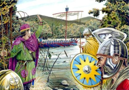 Byzantine army of Maurice in the Danube