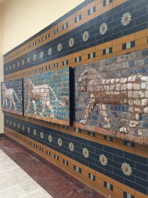 Remains of the Gate of Ishtar from Babylon