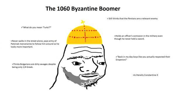 Description of a 1060 Byzantine emperor (Constantine X)