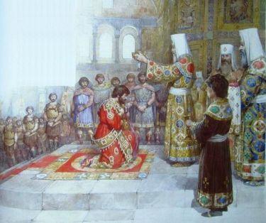 Coronation of Michael VIII Palaiologos in the Hagia Sophia, 1261
