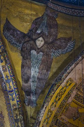 Seraph mosaic in the pendentive