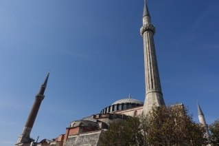 Ottoman minarets of the Hagia Sophia