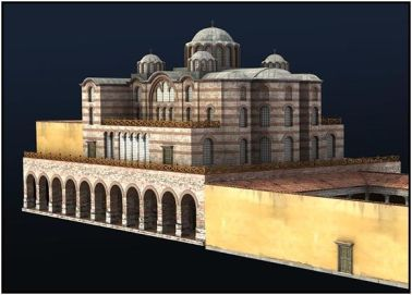 Model of the Nea Ekklesia Church in the Great Palace built under Basil I