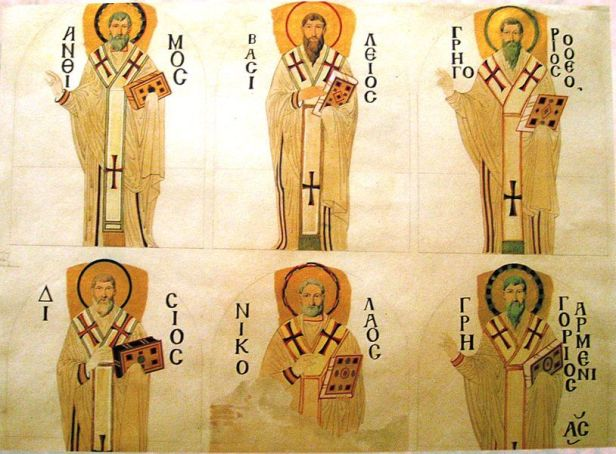 Mosaics of the patriarchs sketched by the Fossati brothers