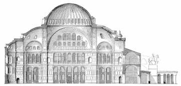 Diagram of the Byzantine Hagia Sophia